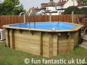 11ft x 11ft Plastica Wooden Corner Pool Special Edition